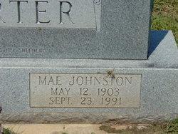 Mae <i>Johnston</i> Carter