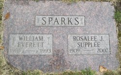 Rosalee J <i>Supplee</i> Sparks