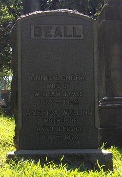 Annie Lenora <i>Walling</i> Beall
