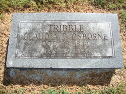 Claudia B <i>Osborn</i> Tribble