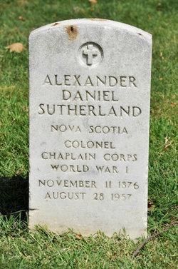 Col Alexander Daniel Sutherland