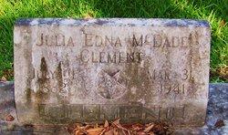 Julia Edna <i>McDade</i> Clement