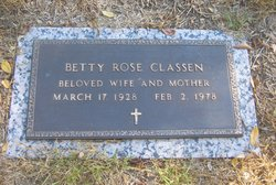 Betty Louise <i>Rose</i> Classen