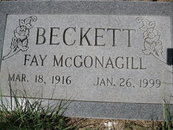 Fay <i>McGonagill</i> Beckett