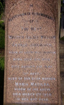 Rev Walter Julius William George Jungbluth