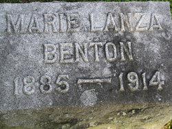 Marie <i>Lanza</i> Benton