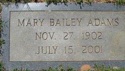 Mary <i>Bailey</i> Adams