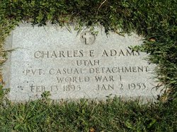Pvt Charles Edward Adams
