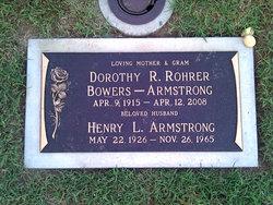 Dorothy Bowers <i>Rohrer</i> Armstrong