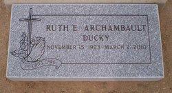 Ruth E. Ducky <i>Monaghan</i> Archambault