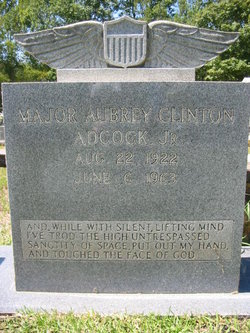 Maj Aubrey Clinton Adcock, Jr