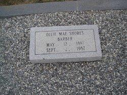 Ollie Mae <i>Shores</i> Barber