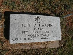 Jeff D Hardin