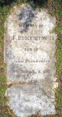 Pvt Benjamin Franklin Brockinton, Sr
