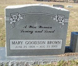 Mary <i>Goodson</i> Brown