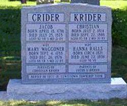 Mary Magdalena <i>Waggoner</i> Crider