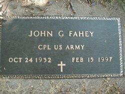 Corp John G. Fahey