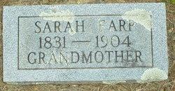 Sarah <i>Fore</i> Earp