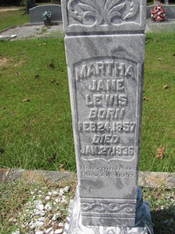 Martha Jane <i>Parmer</i> Lewis