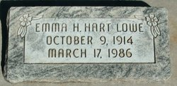 Emma H <i>Hart</i> Lowe