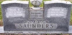 Bessie M <i>Owens</i> Saunders