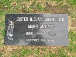 Sr M. Clare Assisi McCabe