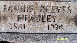 Fannie <i>Reeves</i> Heasley