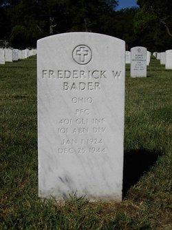 Frederick W Bader