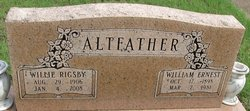 Willie <i>Rigsby</i> Altfather
