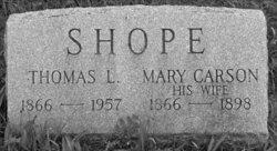 Mary <i>Carson</i> Shope