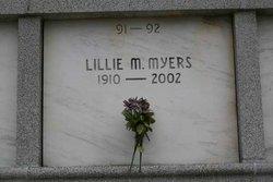 Lillie M Myers