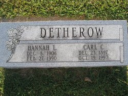 Hannah Lillian <i>Tannehill</i> Detherow