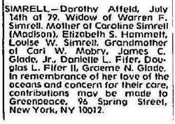 Dorothy A. <i>Affeld</i> Simrell