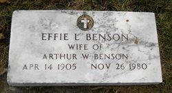 Effie L Benson
