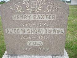 Alice M. <i>Snow</i> Baxter
