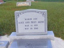 Alice Ann Mamaw Ann <i>Price</i> Akins