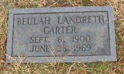Beulah Landreth <i>Donavant</i> Carter
