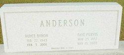 Faye <i>Purvis</i> Anderson