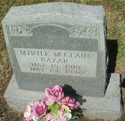 Myrtle Marie <i>McClain</i> Bazar