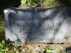 Mary A <i>Benton</i> Bowman