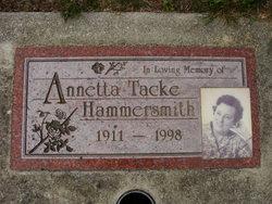 Annetta E. <i>Tacke</i> Hammersmith