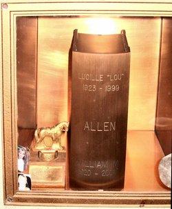 Lucille Grace Lou <i>Ellis</i> Allen