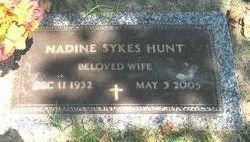 Nadine <i>Sykes</i> Hunt