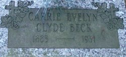Carrie Evelyn <i>Clyde</i> Beck