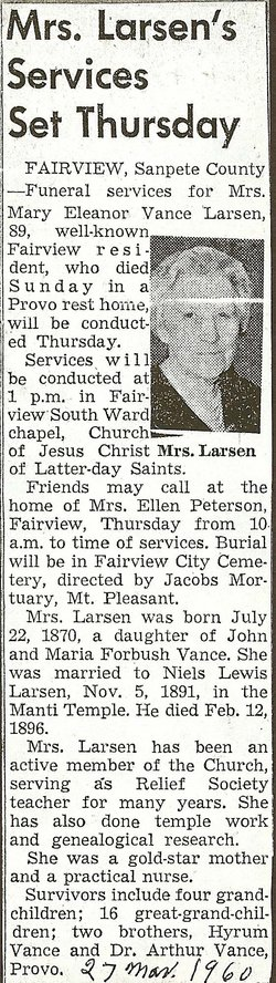 Mary Eleanor <i>Vance</i> Larsen