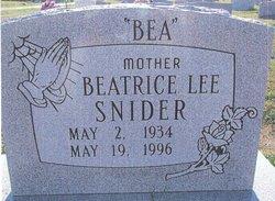 Beatrice Lee <i>Duncan</i> Snider