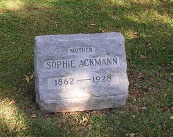 Sophie <i>Liepitz</i> Ackmann