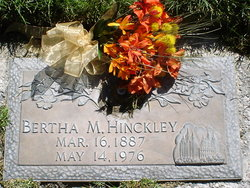 Anna Bertha Bertie <i>Martinson</i> Hinckley