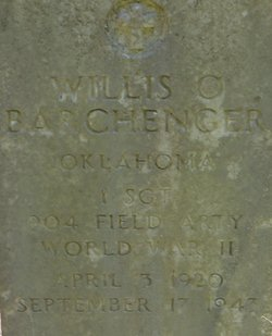 Willis Orval Barchenger