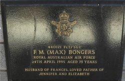 Sgt F M Max Bongers